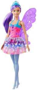 Barbie Dreamtopia Fee (lila Haare) Puppe mit Flügeln, Anziehpuppe, Modepuppe