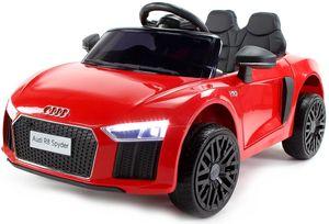 Audi R8 Spyder Kinder Auto Kinder Elektroauto Akku Kinderfahrzeug 12V, Farbe:Rot