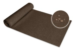 Tischläufer 40x140 cm braun Leinenoptik beschichtet Lotuseffekt Tischband Mitteldecke
