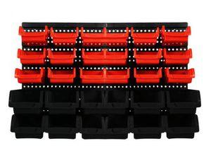 Lagersichtkästen Set 32-TLG. Werkstatt Wandregal Stapelboxen Lagerregal Stapelboxen 607700
