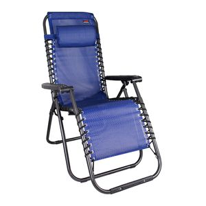 Comfort Relaxsessel Relaxstuhl klappbar & verstellbar Garten Camping Balkon & Terrasse Blau
