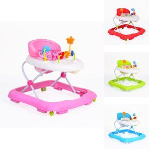 Lauflernwagen, Laufhilfe Eko höhenverstellbar, gepolsteter Sitz und Spielcenter, Farbe:rosa