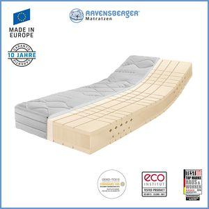 Ravensberger 7 Zonen TALALAY® Premium Latex H4 (RG66) mit Baumwoll Doppeltuch 80 x 200 cm
