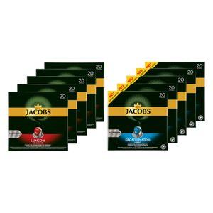 JACOBS Kapseln Lungo 6 Classico & Decaffeinato 6 je 100 Nespresso®* kompatibel