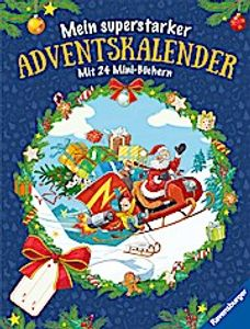 Ravensburger Mein superstarker Advenskalender Mit 24 Mini-Büchern
