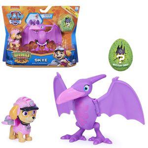 Dino Rescue Action Pack | Set mit Spielfigur und Dinosaurier | Paw Patrol, Figur:Skye