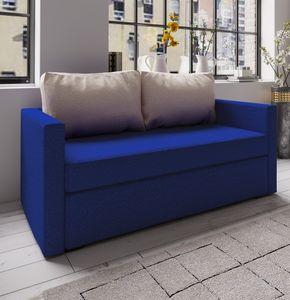 "VCM 2er Schlafsofa Sofabett Couch Sofa mit Schlaffunktion ""Ensal"" Blau"