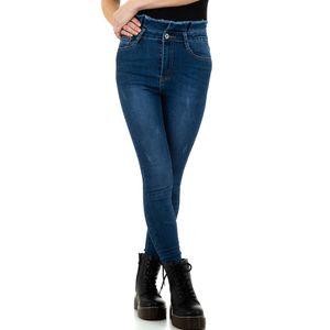 Ital-Design Damen Jeans High Waist Jeans Blau Gr.38