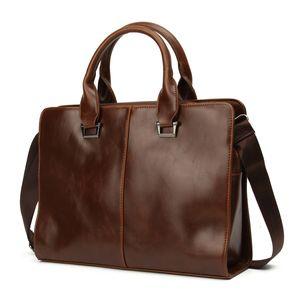 Aktentasche Herrentasche Umhängetasche Leder Business Handtasche Schultertasche