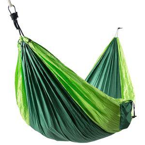 Hängematte aus Fallschirmnylon, 300x200 cm, grün-hellgrün, belastbar bis 300 kg