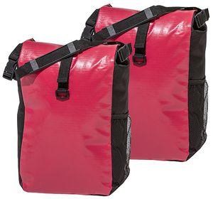 Fahrradtasche 16J030-F08 Gepäckträger Tasche rot/schwarz 2er Set