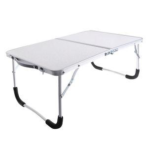 Klappbarer Tisch aus Aluminiumlegierung im Freien tragbarer Camping Grill Esstisch weiß 62x42x27.5cm