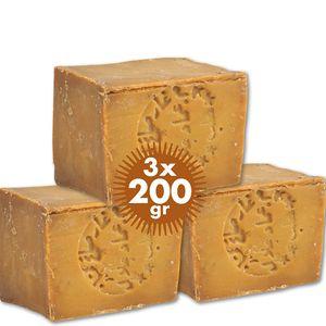 3 x Alepposeife 80% Oliven- 20% Lorbeerölseife Haarseife Duschseife Vegan Handarbeit Naturseife TENGRI