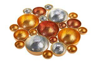 Kerzenhalter Bubble für Teelichter in silber, gold, bronze Höhe 27 cm