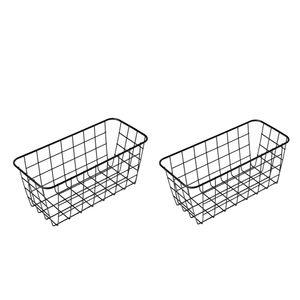 2 Stück Draht Badezimmer Korb Display Speicher Organizer für Küche Badezimmer