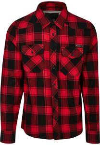 Brandit Hemd Checkshirt in Red/Black-7XL
