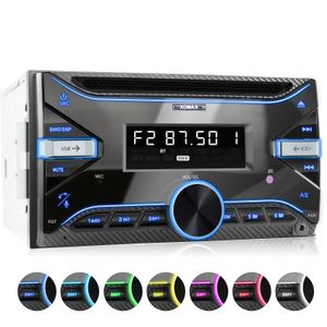 XOMAX XM-2CDB625 Autoradio mit CD-Laufwerk, Bluetooth, USB und AUX-IN