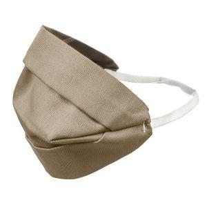 2-lagige Gesichtsmaske Atem Mundschutz Staubmaske Hygienemaske Wiederverwendbar Waschbar Streetwear beige Gummiband hinter dem Kopf