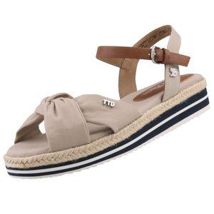 TOM TAILOR Damen Keil-Sandalen Beige, Schuhgröße:EUR 41