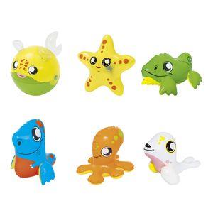 Bestway Spieltiere, sortiert - 6 Modelle sortiert: Clownfisch 29 cm, Delfin 30 cm, Ente 27 cm, Krokodil 28 cm, Wal 29 cm, Robbe 27 cm; 34030