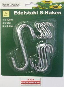 Haken S Formhaken Edelstahl 13 Stück