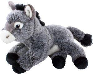 Teddys Rothenburg Kuscheltier Esel 33 cm grau liegend