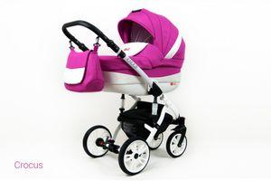 Kinderwagen Lilly, 3 in 1 -Set Wanne Buggy Babyschale Autositz Crocus
