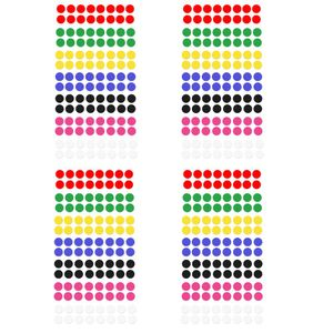 Oblique Unique 448 Markierungspunkte Klebepunkte Sticker Punkte Aufkleber zum Markieren - 7 Farben