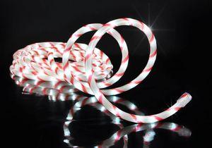 LED Lichterschlauch 6m flexibel in Zuckerstangen Optik für aussen 144 LEDs 76629