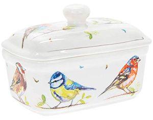"""Lesser & Pavey Butterdose """"Country Life"""" Singvögel in einer Geschenkbox"""