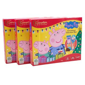 3er-Pack Peppa Pig Mitgebsel Süßigkeiten-Box Peppa Wutz Schokolade