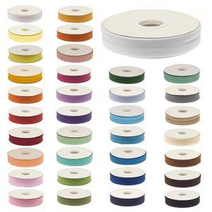 20m Schrägband unifarben 20mm breit gefalzt Einfassband Farbwahl, Farbe:ozeanblau
