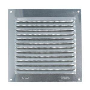Aluminium Lüftungsgitter mit Netz Lüftungsblech Insektenschutzgitter 150 x150mm