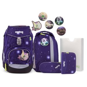Ergobag 6-tlg. Schulrucksackset Galaxy Glow Edition Pack Synthetik 35 x 25 x 22 cm (H/B/T) Kinder Schulranzen 20 Liter