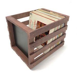Vinyl LP Aufbewahrungsbox Universal Aufbewahrungskiste Holz braun