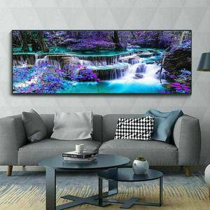 100 x 40 cm Landschaften 5D Diamantmalerei Painting Diamant Malerei Kreuzstich Stickerei Bilde Nachbildung Wohndekoration