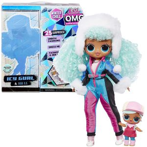 MGA Entertainment 570240E7C L.O.L. Surprise OMG Winter Wonderland Surprise- Doll 1 Icy Gurl and Brrr