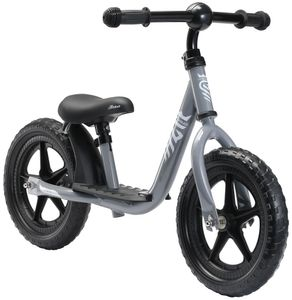 LÖWENRAD Kinder Laufrad ab 3 - 4 Jahre | 12 Zoll Lauflernrad mit Trittbrett | Grau