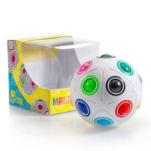 digitCUBE Magic Ball XL Spielzeug - 3D Puzzle Geschicklichkeitsspiel für Kinder - ideales Mitgebsel für Jungen und Mädchen Kindergeburtstag - spannendes Regenbogenball Geduldspiel