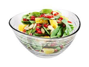 Salatschüssel Obstschale Dreieckschale 2L Glasschale Servierschüssel groß bowl