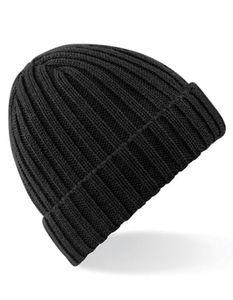 Chunky Ribbed Beanie Wintermütze - Farbe: Black - Größe: One Size