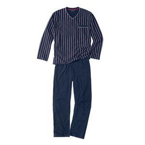Götzburg Pyjama navy/gestreift Übergröße, deutsche Größe:80