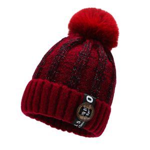 Warme Strickmütze Wintermütze Bommelmütze,unisize,Winter Beanie,Strickmütze Strick-Beanie