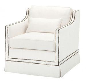 Casa Padrino Luxus Belle Epoche Sessel Creme Weiß Leinen - Jugendstil Art Deco - Luxury Collection