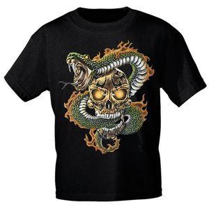 T-Shirt mit Print - Schlange Snap Totenkopf Skull 12996 Gr. S-3XL Größe - L