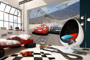 "Komar Fototapete ""Cars3 Curve"", bunt, Lightning McQueen, Autos, 368 x 254 cm"