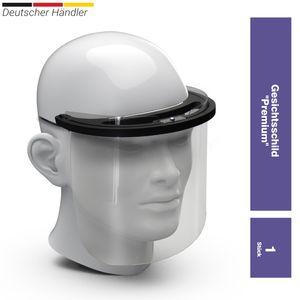 elasto Premium Gesichtsschild Visier aus Kunststoff Schutzschild Gesicht Wiederverwendbarer Gesichtsschutzschild Spritzschutz Mund Nase Auge