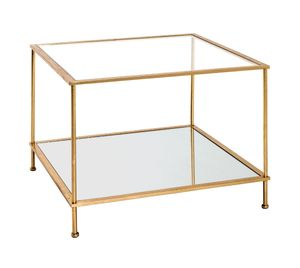 Haku Beistelltisch, gold - Maße: 60 cm x 60 cm x 45 cm; 20289