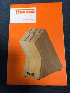 Thomas Messerblock für 5 Küchenhelfer Messer Holz