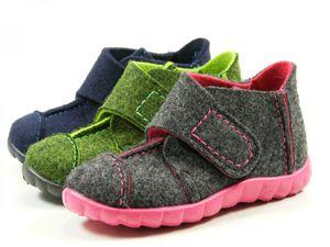 Superfit 8-00293 Happy Jungen Mädchen Schuhe Hausschuhe Weite Mittel IV , Größe:24 EU, Farbe:Blau